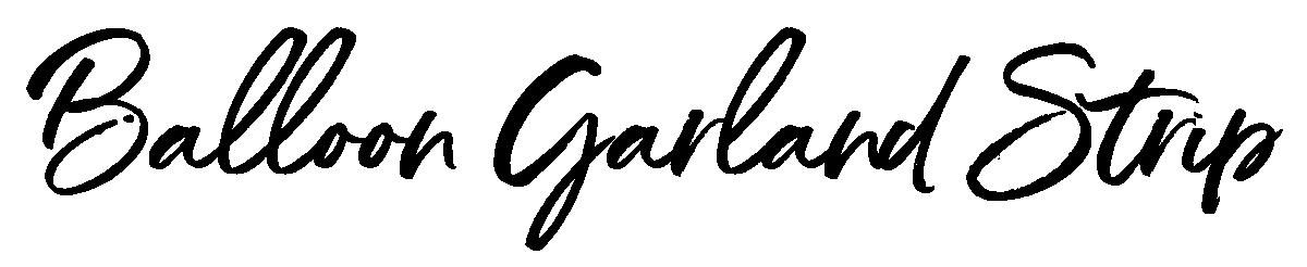 Balloon Garland Strip Stylized Text Image
