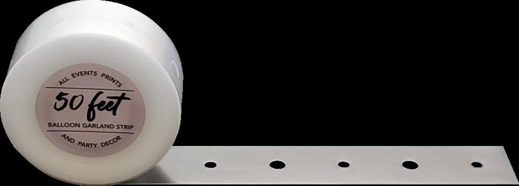 50 Foot Balloon Garland Strip Partially Unrolled